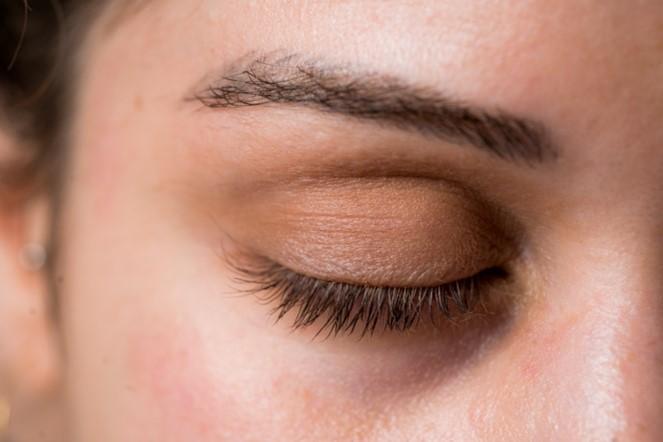 Diferencias de sombras en los ojos dcho